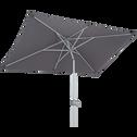 Parasol avec mat inclinable et manivelle gris restanque-MUY