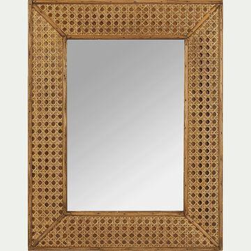 Miroir rectangulaire en bois naturel H45x35 cm-Artemisia