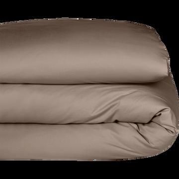 Housse de couette en coton brun châtaignier 240x260cm-CALANQUES