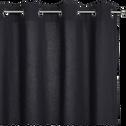 Rideau à oeillets en coton gris calabrun 140x250cm-CALANQUES