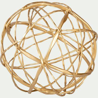 Boule de Noël décorative en fer doré D19,5cm-AGADIR