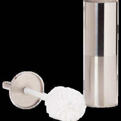 Balai et porte-balai WC en acier inox-Kiel