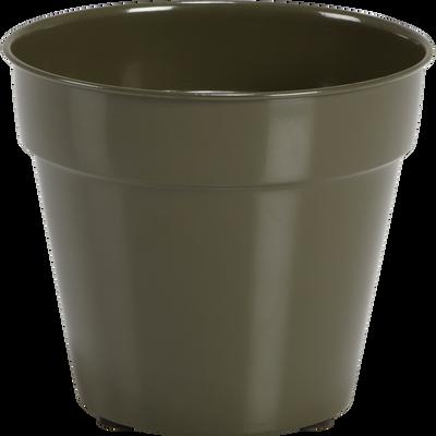 Cache-pot vert cèdre en fer D22xH20cm-FLORA