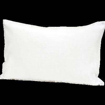Coussin blanc en lin 40x60cm-ST TROPEZ