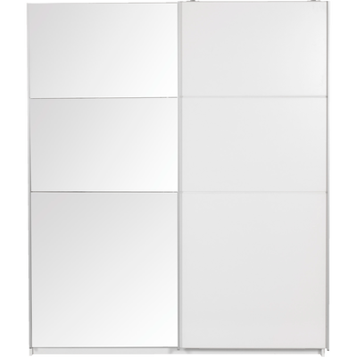 Armoire 2 portes coulissantes Blanc-Slidy