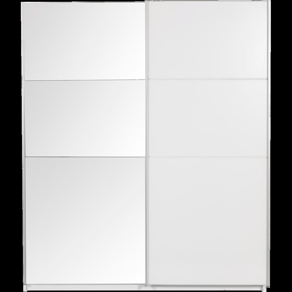 Armoire 2 portes coulissantes Blanc-SLIDY