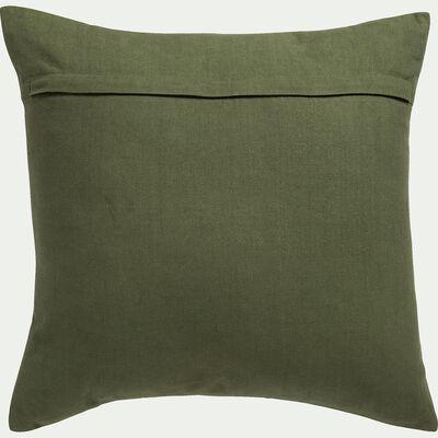 Coussin en tissu avec motifs - vert 45x45cm-MACHJA