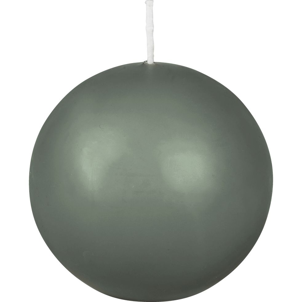 Bougie ronde vert cèdre D10cm-HALBA