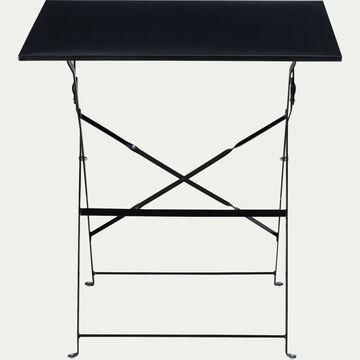 Table de jardin carrée pliante - noir (2 places)-CERVIONE