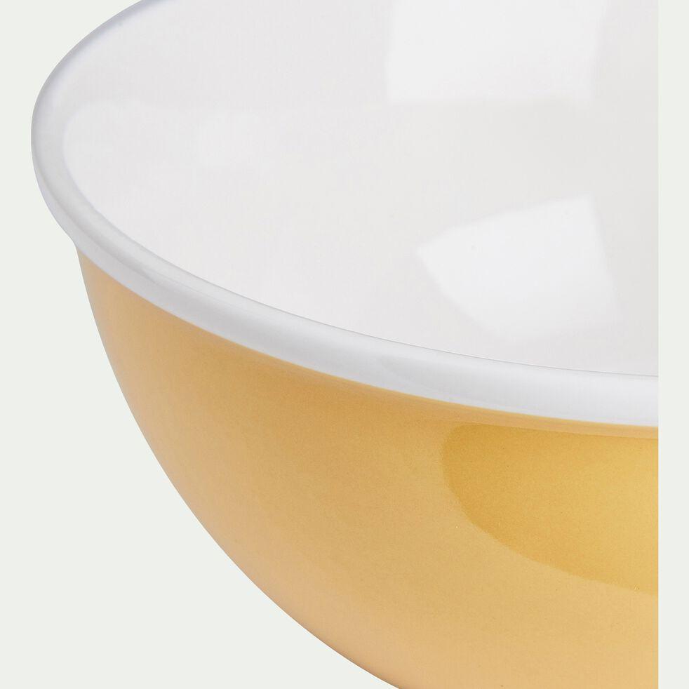 Bol en porcelaine - jaune argan D16cm 75cl-CAFI