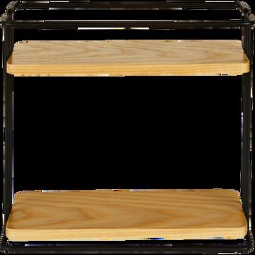 Etagère de cuisine en métal et bois-LAUTIN