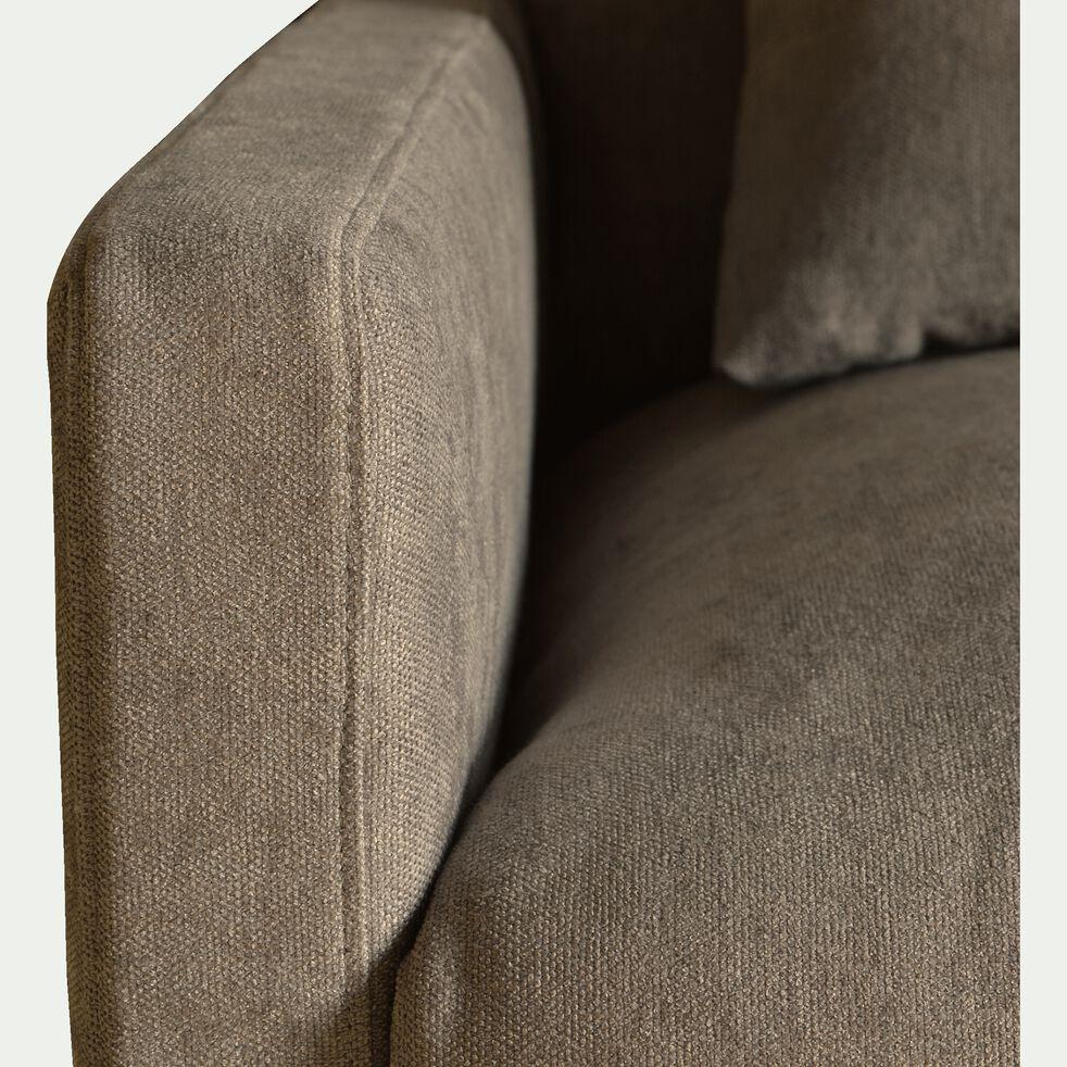 Canapé fixe 3 places en tissu - L190xH80xP104 cm beige alpilles-SOZY