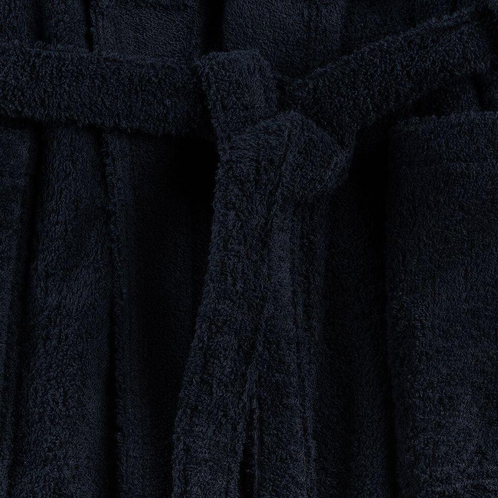 Peignoir en coton et polyester - bleu calabrun S/M-AZUR