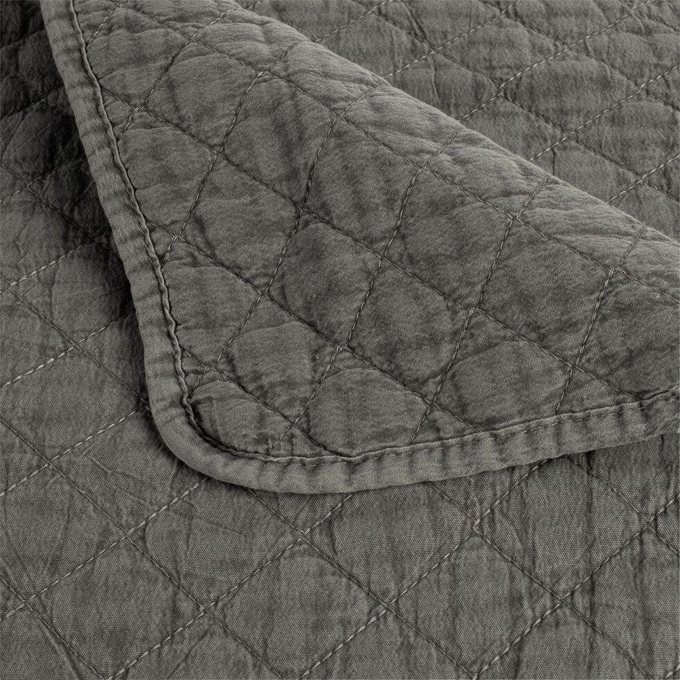 Couvre-lit effet lavé - vert cèdre 230x250cm-THYM
