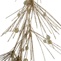 Guirlande de noël avec perle or L120cm-GUIRLANDE