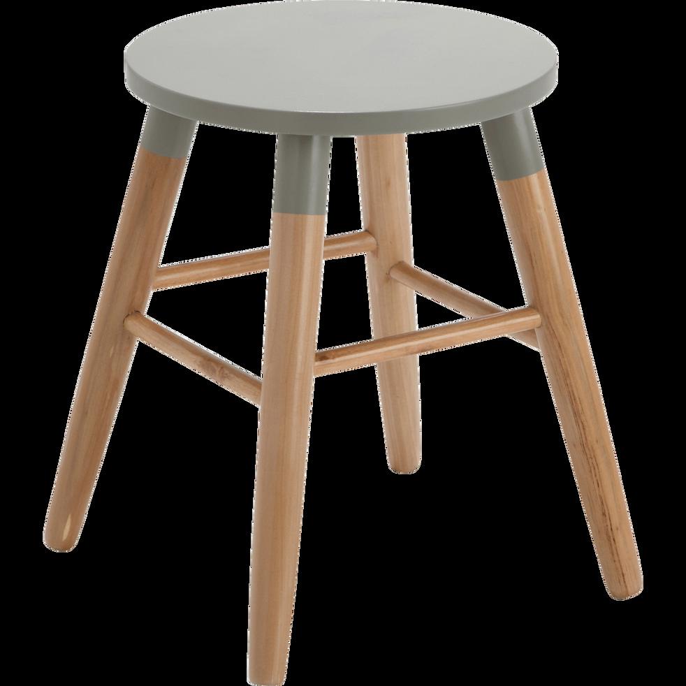 tabouret bicolore gris et bois h45cm germain tabourets et bancs alinea. Black Bedroom Furniture Sets. Home Design Ideas