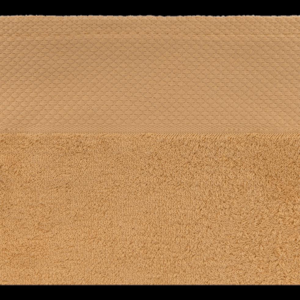 Drap de douche en coton 70x140cm beige nèfle-AZUR