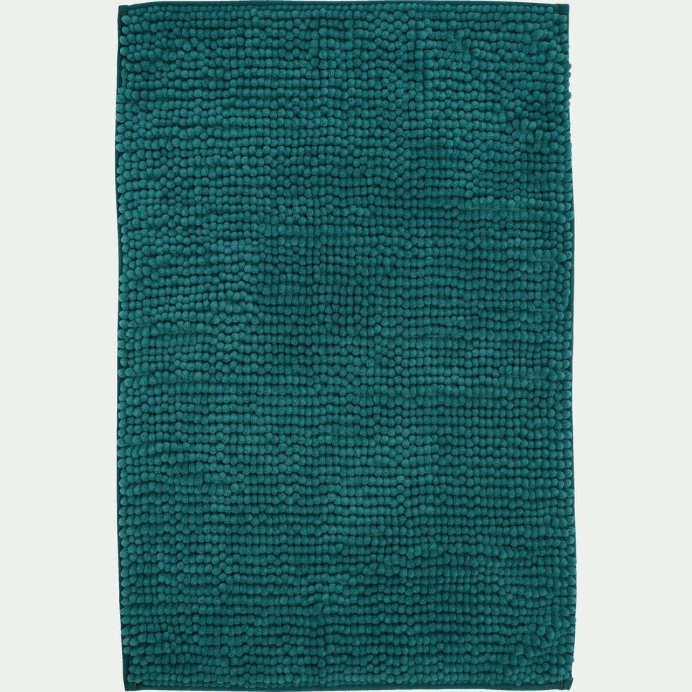 Tapis de bain chenille en polyester - bleu niolon 50x80cm-PICUS