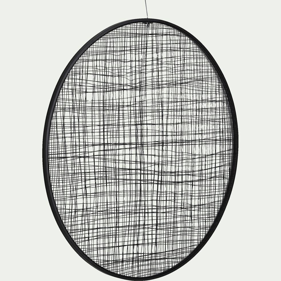 Décoration murale en métal - noir D100cm-VADIM