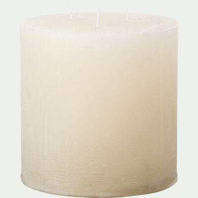 Bougie lanterne coloris blanc nougat D15xH15cm-BEJAIA