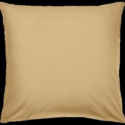 Taie d'oreiller en coton lavé beige nèfle 65x65 cm-CALANQUES