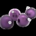 4 boules en verre violet D10cm-NANS