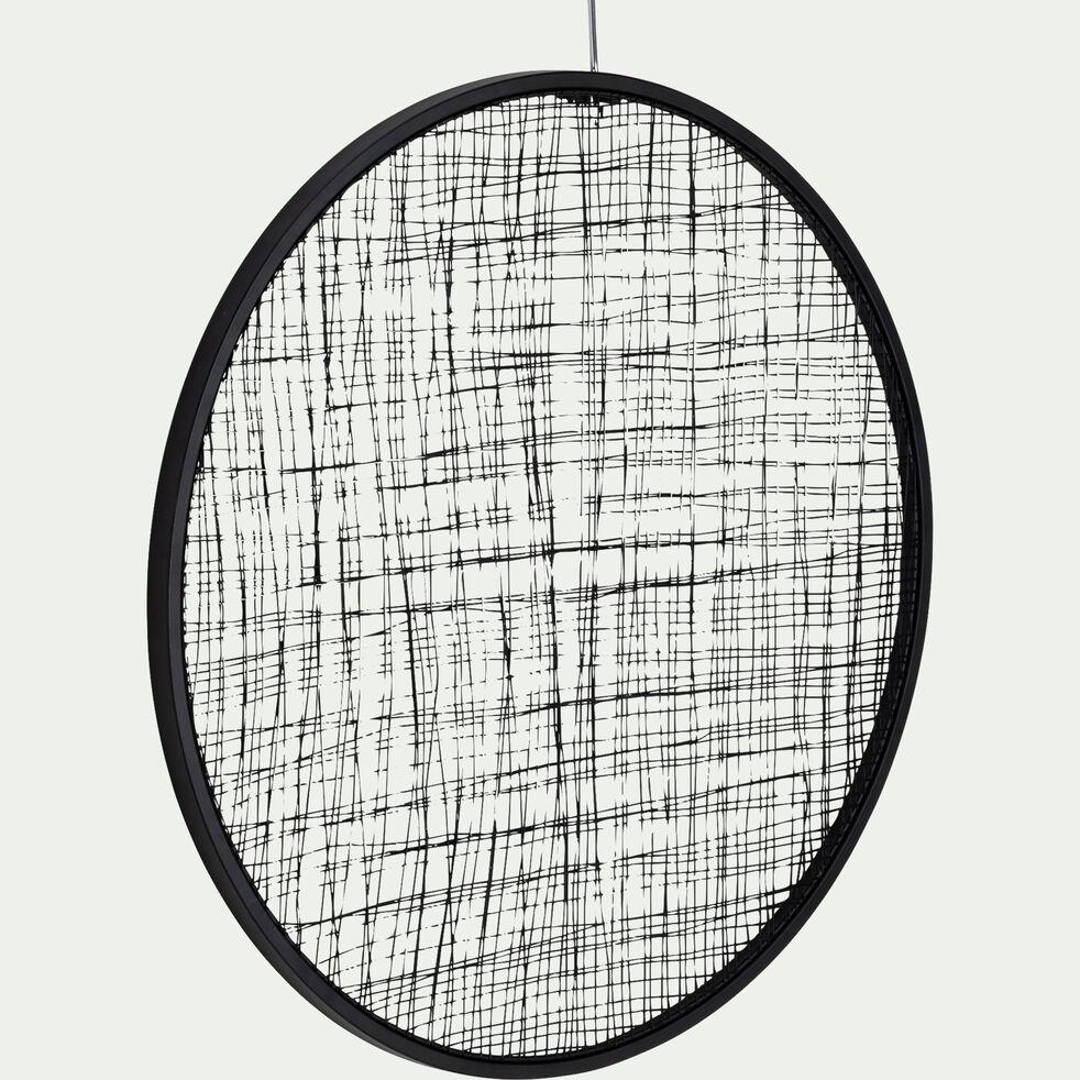Décoration murale en métal - noir D60cm-VADIM