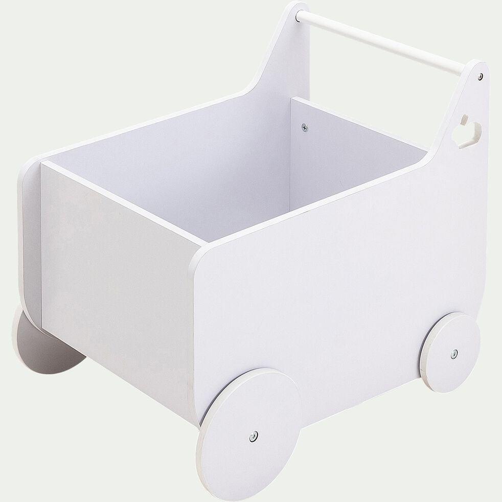 Chariot à roulettes pour chambre enfant - blanc-Dico