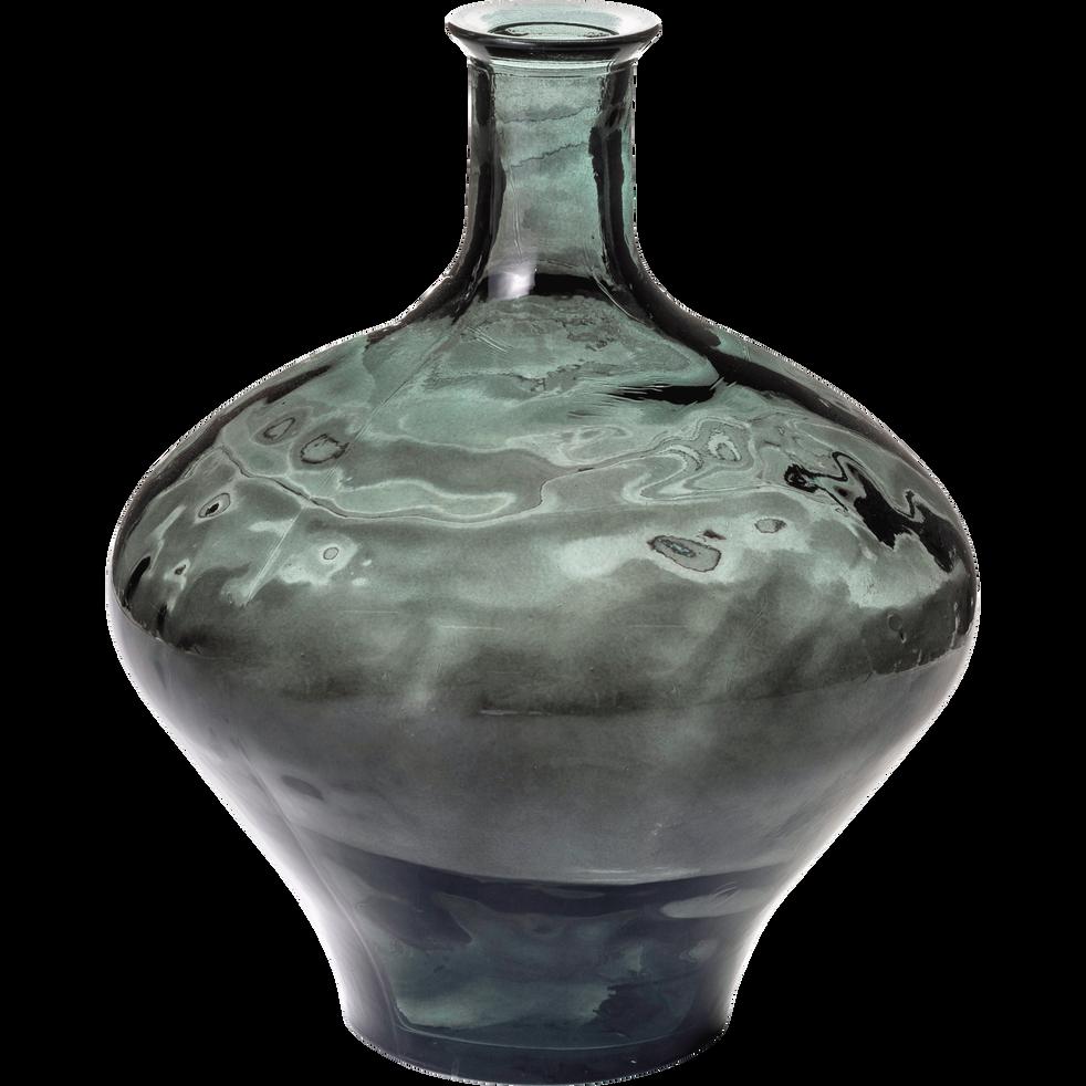 vase en verre vert h46cm ajja h46xd38 cm vases alinea. Black Bedroom Furniture Sets. Home Design Ideas