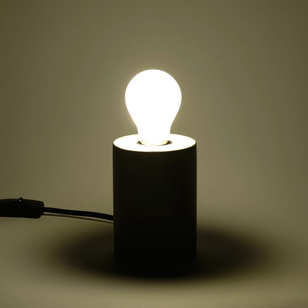 Ampoule LED verre dépoli D6cm blanc froid culot E27-STANDARD