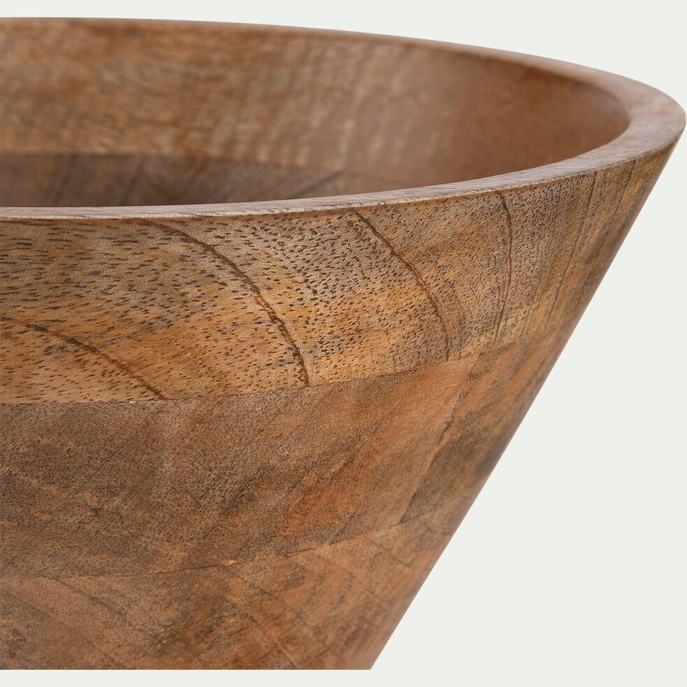 Saladier en bois de manguier - marron D25cm-PEGO
