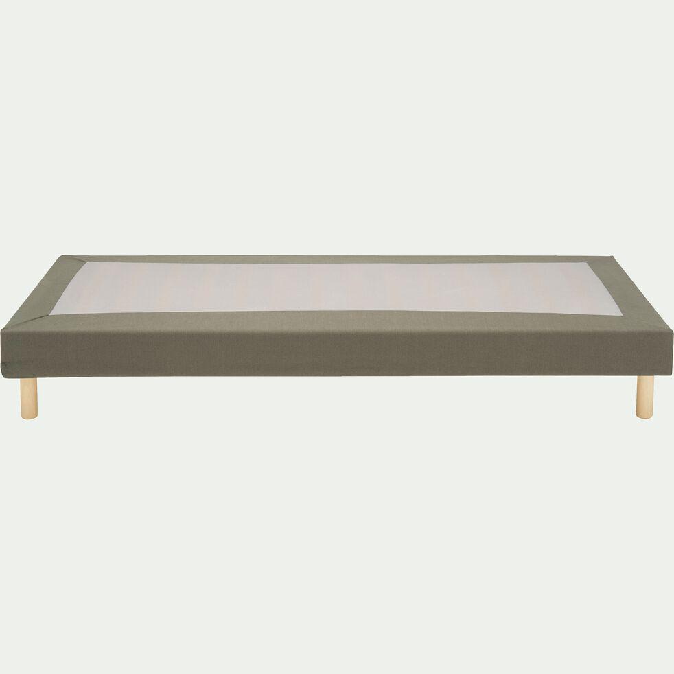 Housse pour sommier Topaze Vert cèdre - 90x200 cm-TOPAZE