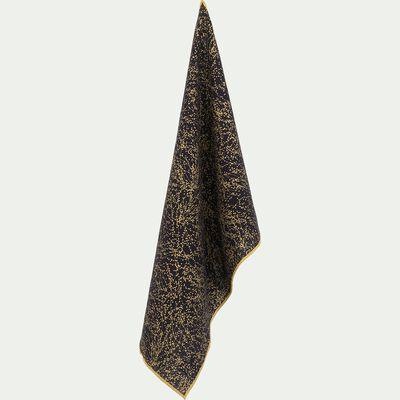 Torchon en coton bleu calabrun 50x70cm-GINKO