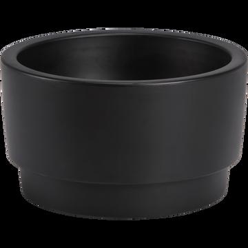 Cache-pot noir en plastique H27xD47cm-PURE