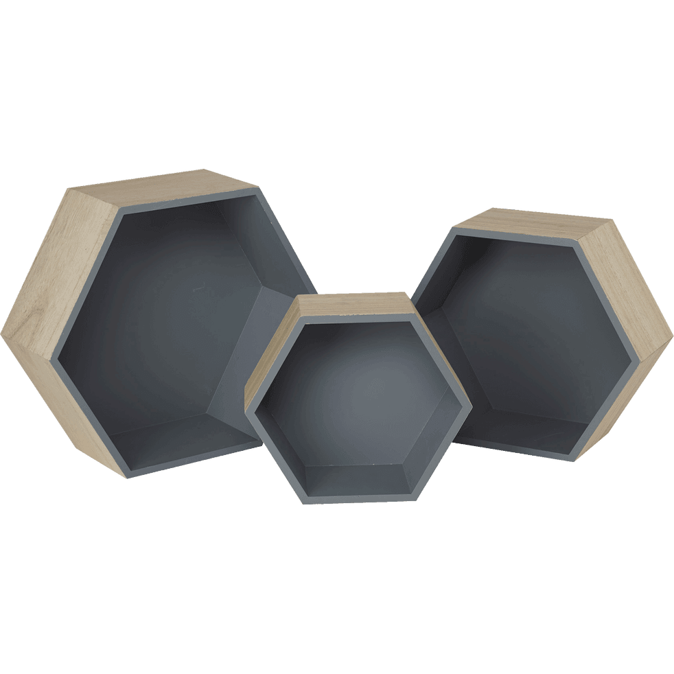 tag re hexagonale grise rush soldes alinea. Black Bedroom Furniture Sets. Home Design Ideas