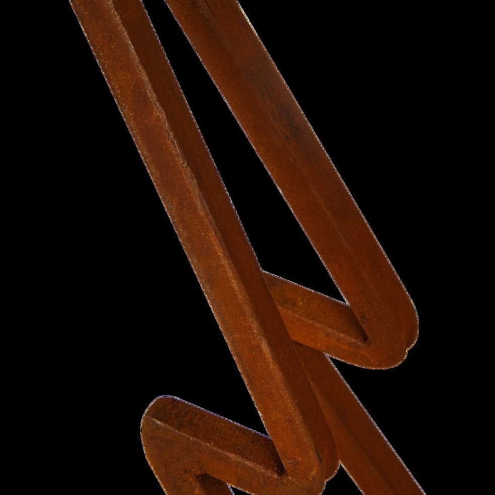 Sapin en fer effet rouille H90cm-JIJEL
