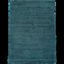 Tapis bleu canard moucheté 160X230cm-STESSY