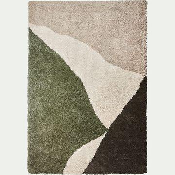 Tapis laineux à motif abstrait - vert 160x230cm-TUPPO