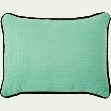 Coussin en coton vert 30x50 cm-EVANGELINE