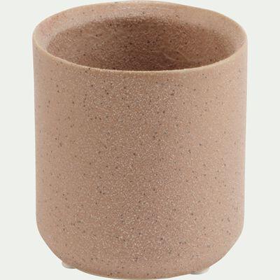 Vase en céramique rose D7xH7cm-LUEUR
