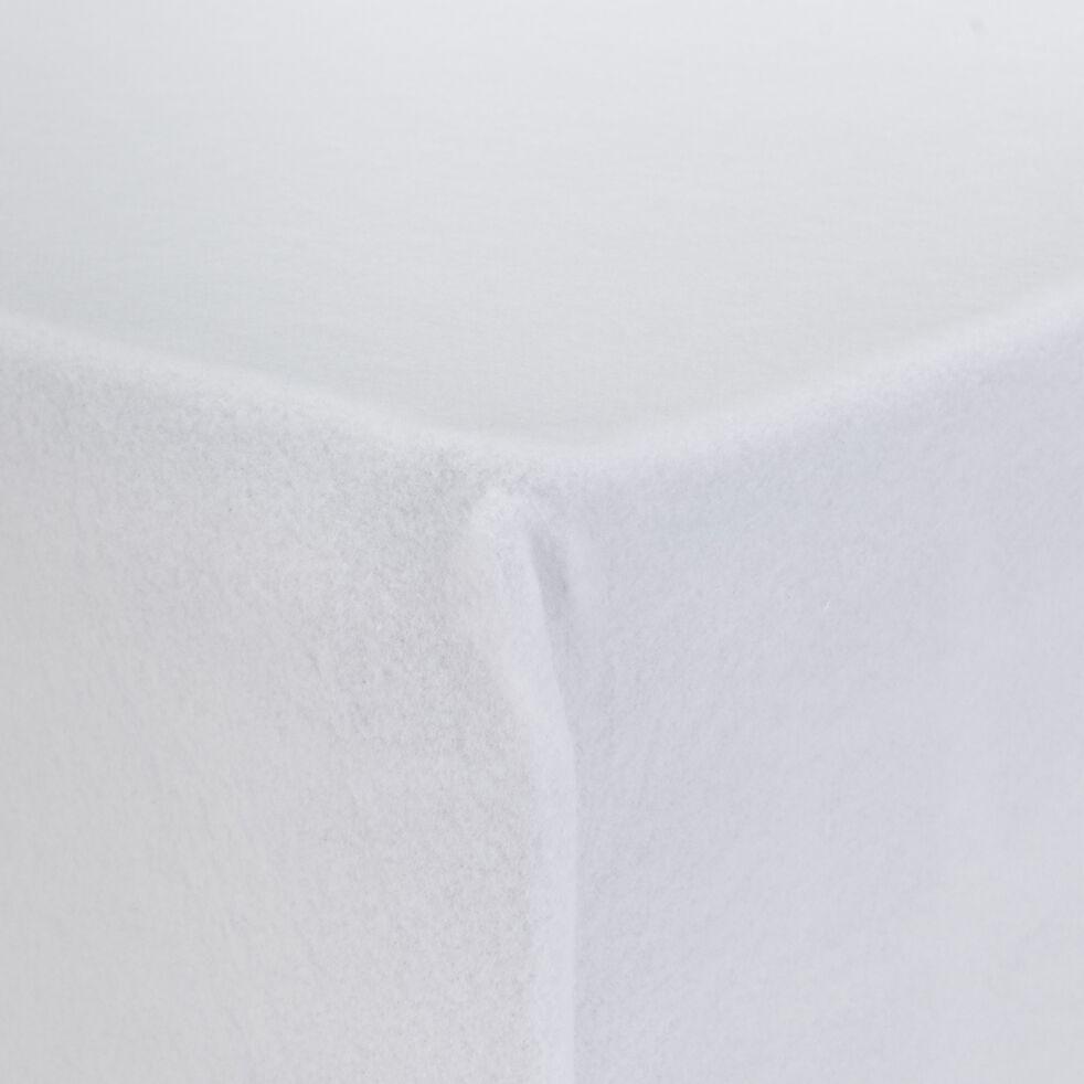 Protège-matelas en coton recyclé 160x200cm bonnet 25cm-CINA