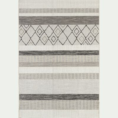 Tapis extérieur et intérieur à motifs - gris 160x230cm-EUPHORIE