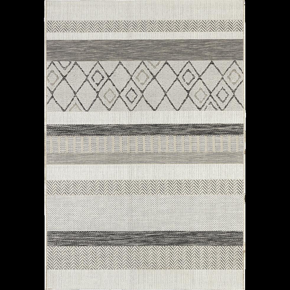 Tapis Exterieur Et Interieur A Motifs Gris 160x230cm Euphorie
