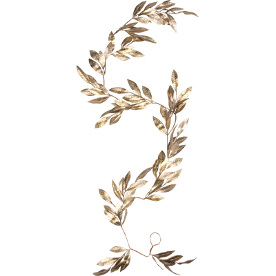 Guirlande de noël en plastique doré 182cm-VILLI