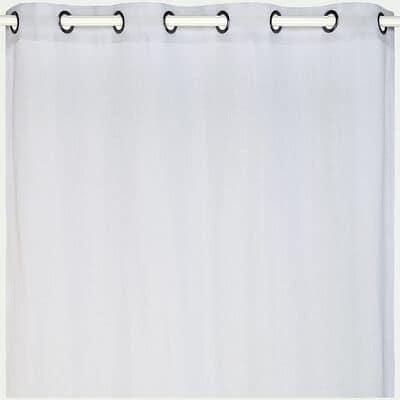 Voilage à œillets en polyester - gris borie 135x250cm-DUNE