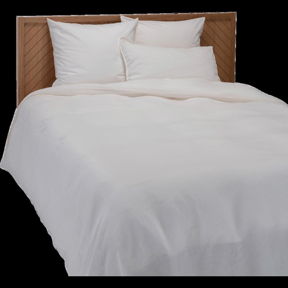 housse de couette en lin blanc capelan 260x240cm vence 260x240 cm promotions alinea. Black Bedroom Furniture Sets. Home Design Ideas