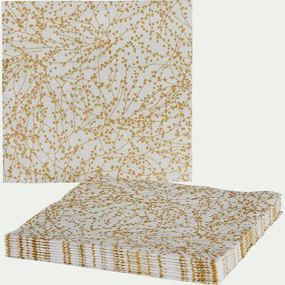 Lot de 20 serviettes en intissé blanc 40x40cm-GINKO