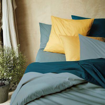 Housse de couette en coton - bleu calaluna 140x200cm-CALANQUES