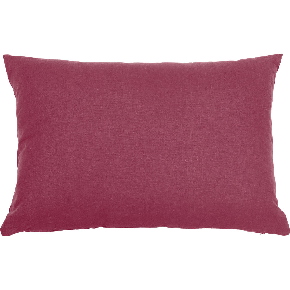 Coussin en coton rouge arbouse 40x60cm-CALANQUES