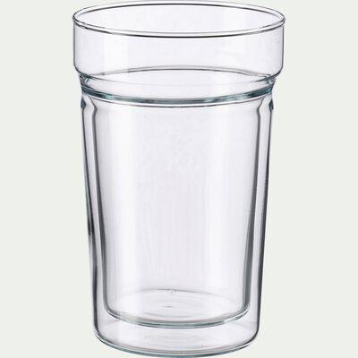 Lot de 2 tasses en verre transparent 40cl-ALCENE